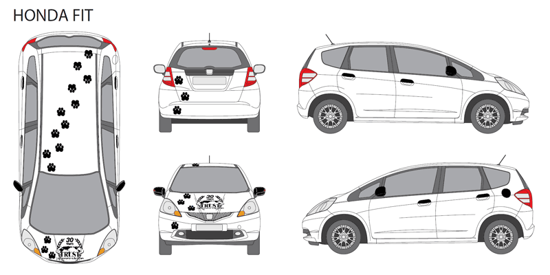 Example of design for Honda Fit