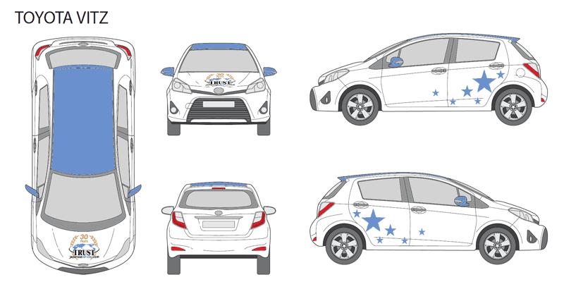 Example of design for Toyota Vitz