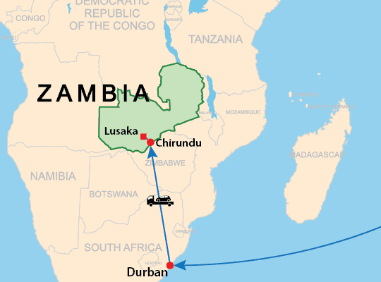Vehicle delivery from Japan to Zambia Chirundu and Nakonde