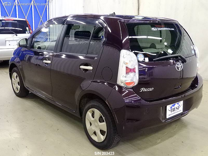 TOYOTA PASSO, 2010, S/N 203423 Used for sale | TRUST Japan