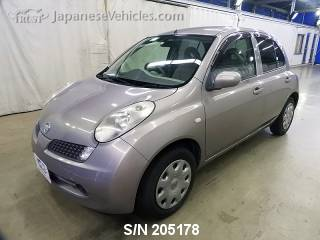 NISSAN MARCH (MICRA) 2007 S/N 205178