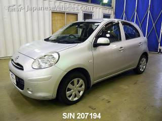 NISSAN MARCH (MICRA) 2010 S/N 207194