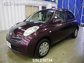 NISSAN MARCH (MICRA) 2008 S/N 215734
